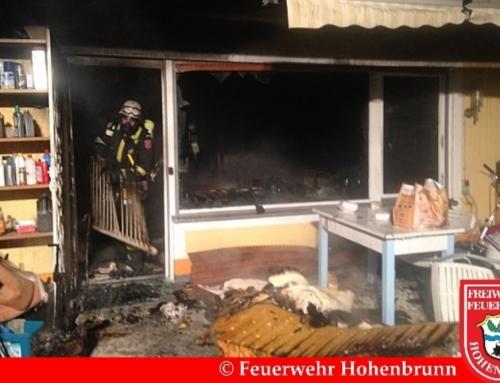 Zimmerbrand in Hohenbrunner Pension