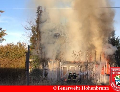 Brand eines Gartenschuppens in Riemerling