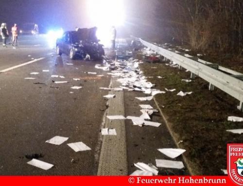 Schwerer Verkehrsunfall mit Todesfolge auf der A99 am Neujahrsabend