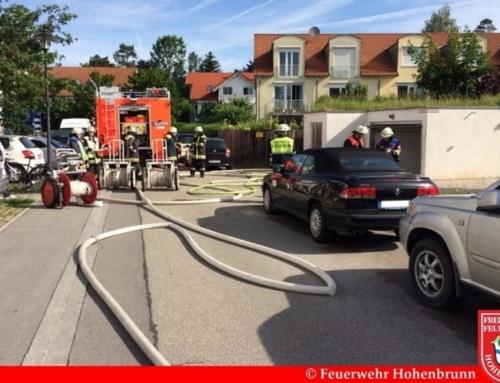 Tiefgaragenbrand in Riemerling