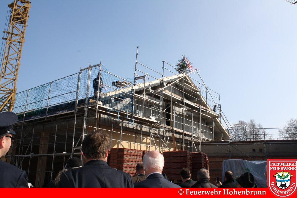Richtfest Gerätehaus Feuerwehr Hohenbrunn