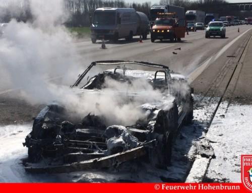 Fahrzeugbrand auf der A99