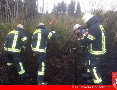 Waldbrand bei Brunnthal