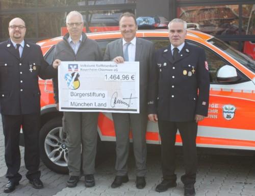 Bürgerstiftung München-Land unterstützt Feuerwehr Hohenbrunn