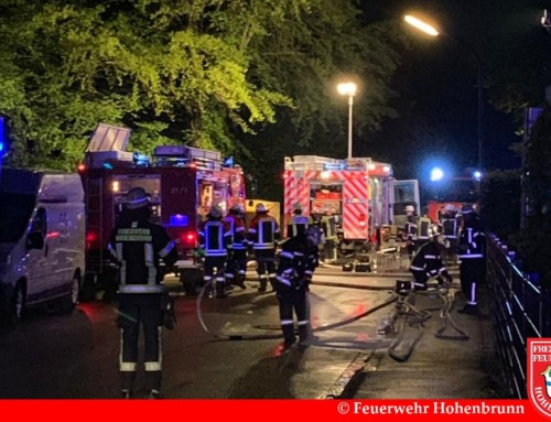 Zimmerbrand im Hohenbrunner Gewerbegebiet